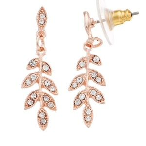 Lauren Conrad leaf earrings